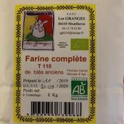 Farine de blés anciens T110 1kg (Monfuron 04)