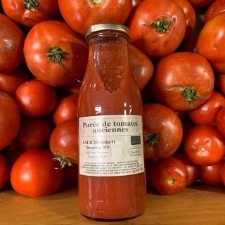 Purée de tomates anciennes de Robert Salicis 48 cl (Saint Martin les Eaux 04)