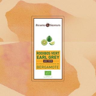 Rooibos Vert Earl Grey sans théine 100g (Aubagne 13)