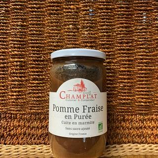 Pomme Fraise en purée sans sucre ajouté 650g (Gard)