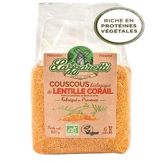 Couscous de lentilles corail Lazzaretti 400 g (Avignon 84)