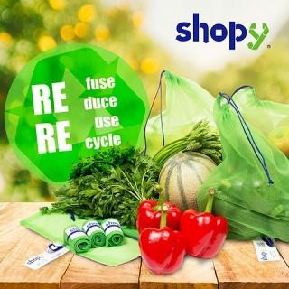 Lot de 3 sacs réutilisables Shopynet
